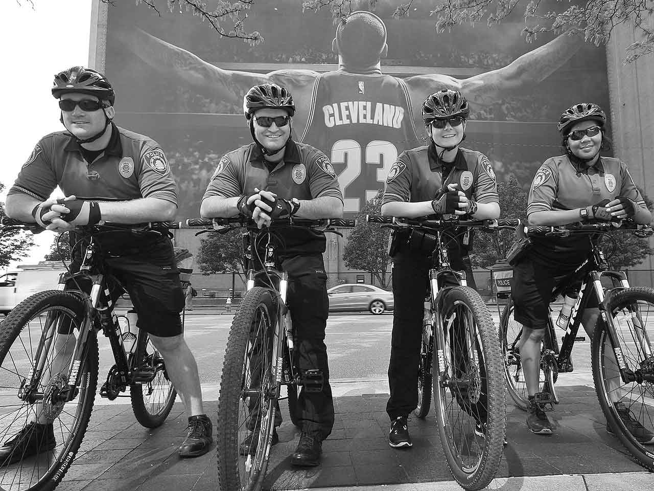 Photo of CSU police officers on bicycles