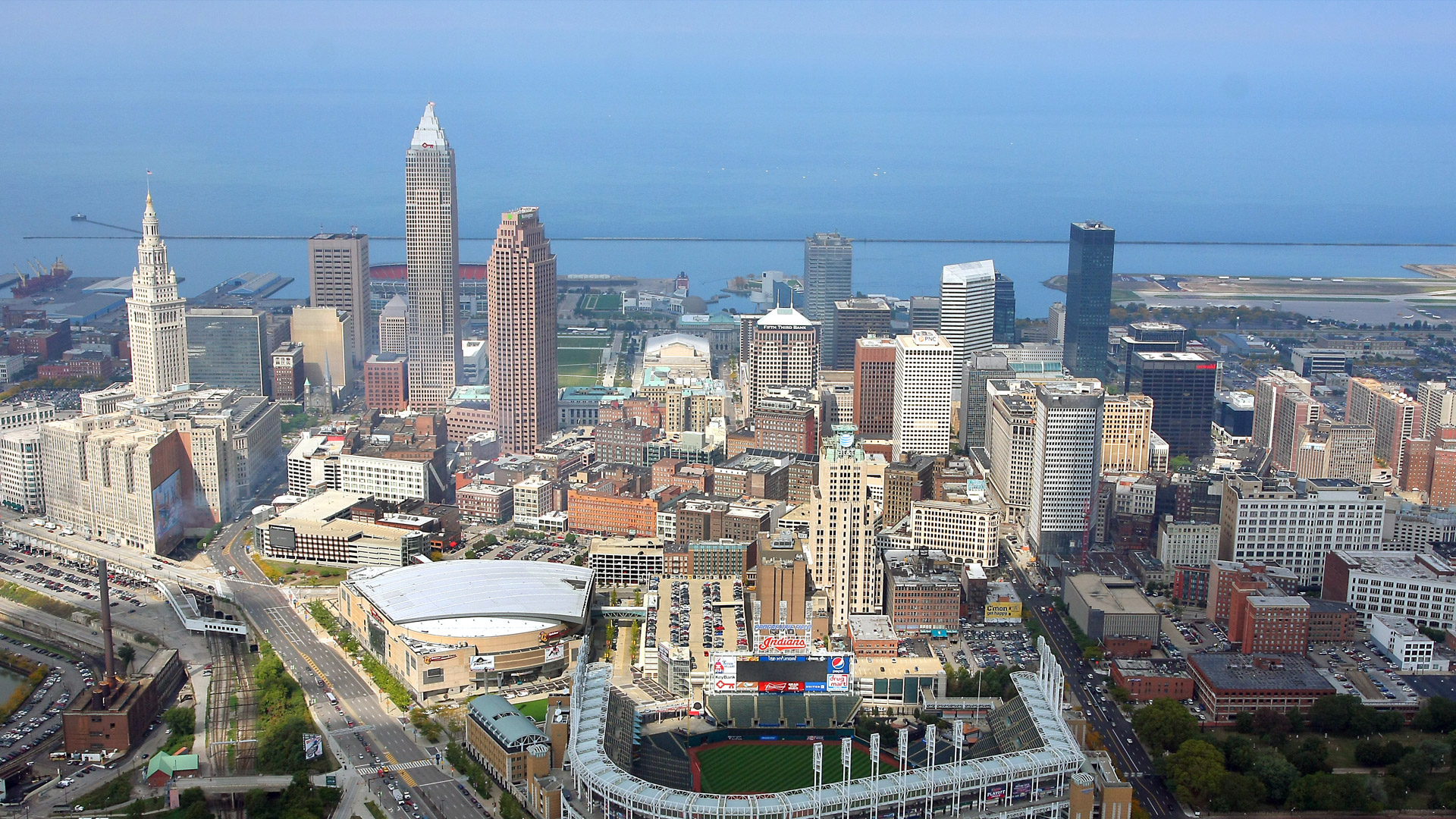 Ariel view of the city of Cleveland