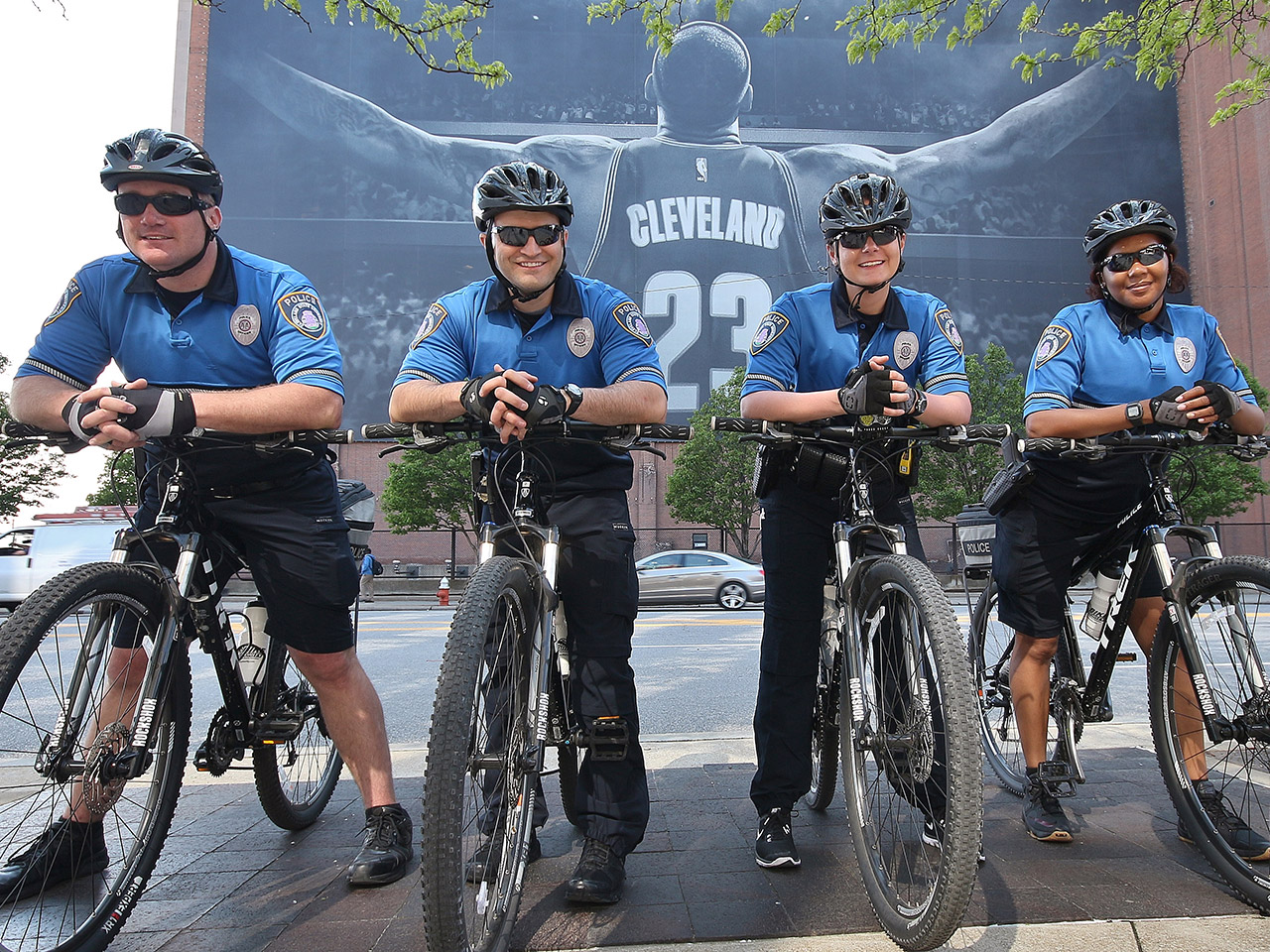 Photo of campus police on bicycles