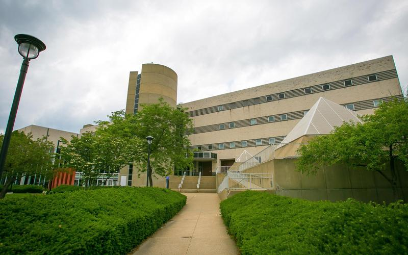 External photo of the Music & Communications Building