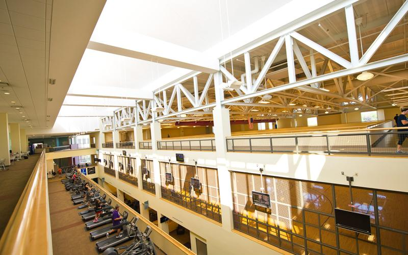 Interior photo of the CSU Recreation Center